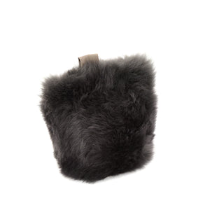 British Sheepskin Doorstop - Slate Grey