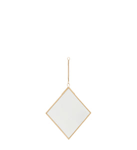 Gold Hanging Diamond Mirror