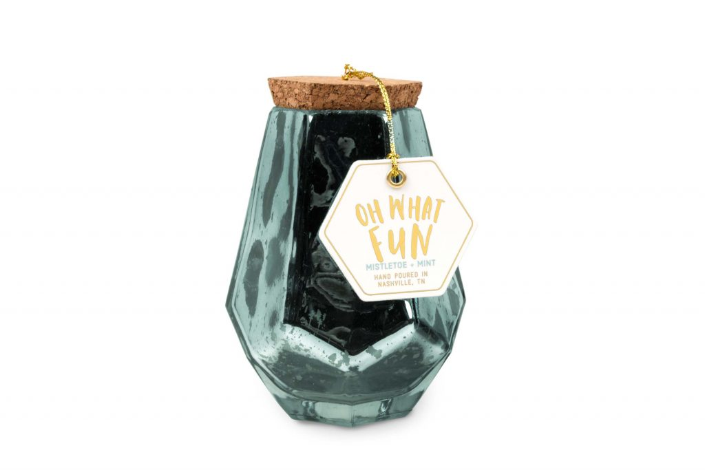 7oz Prism Candle - Mistletoe & Mint *SALE*