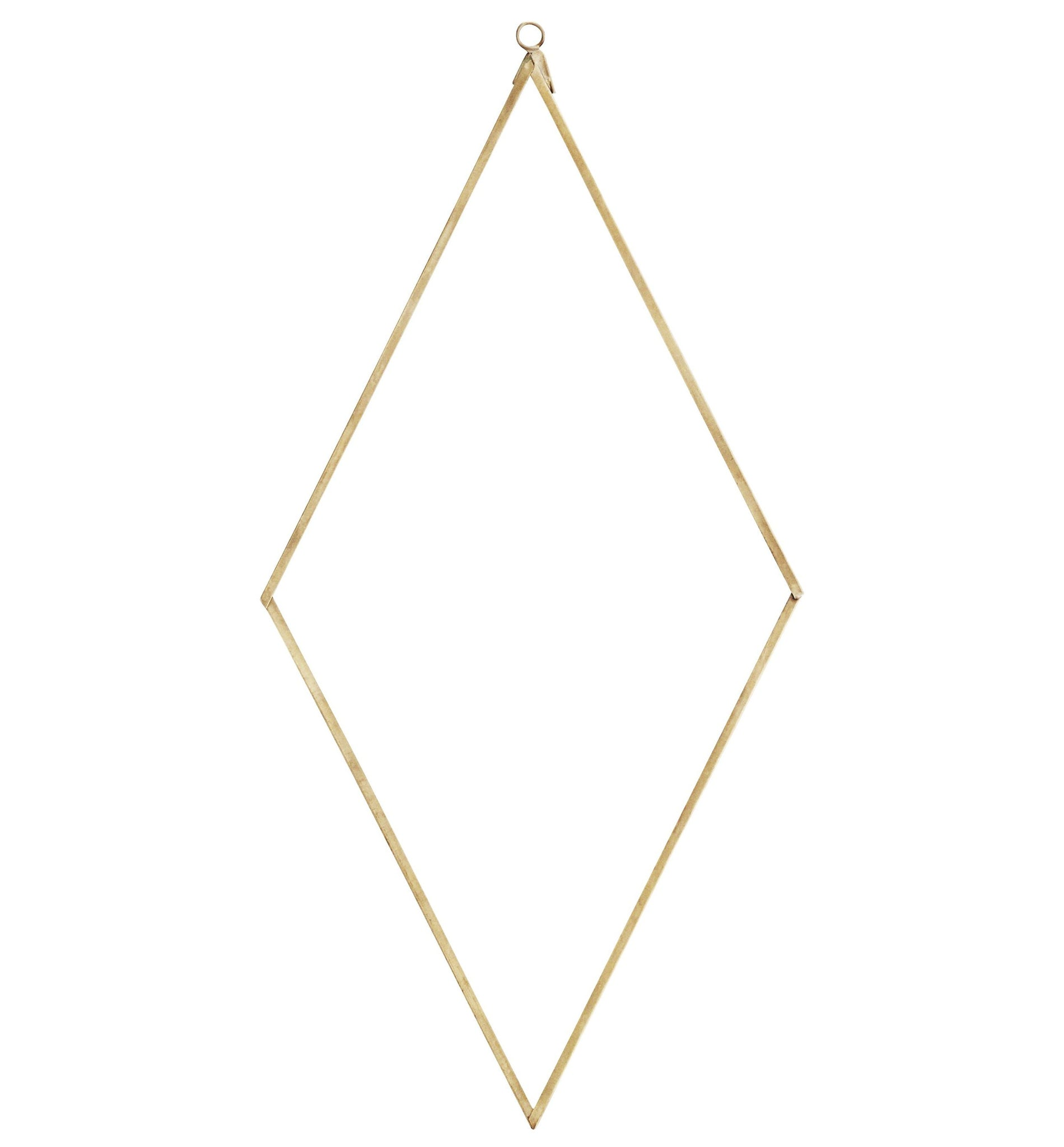 Diamond Shaped Brass Mirror