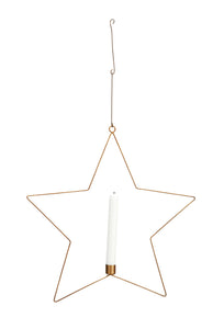 Madam Stoltz Hanging Star Candle Holder