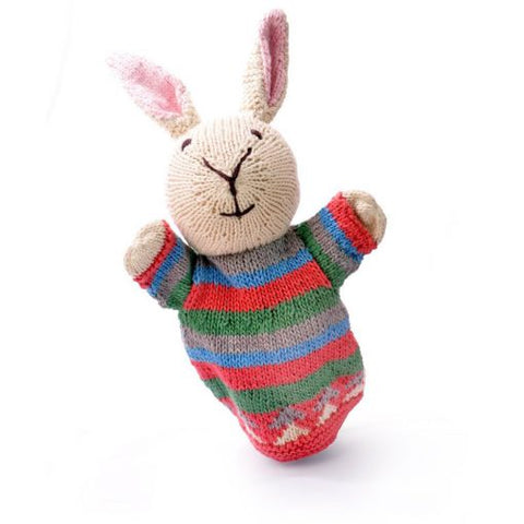 Organic Cotton Hand Puppet - Rabbit