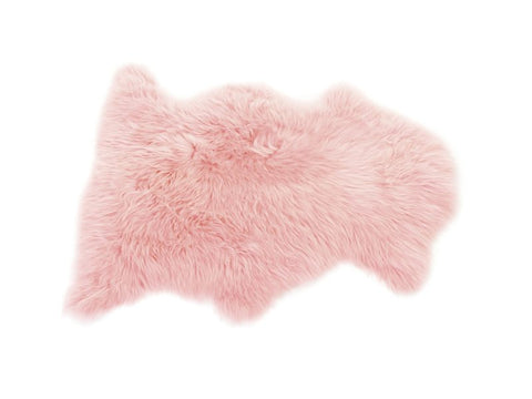 British Sheepskin Rug - Blush Pink