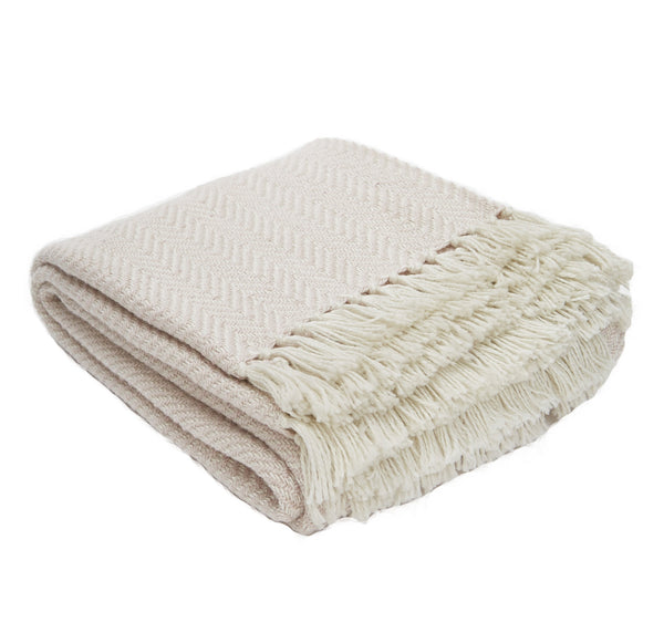 Weaver Green Herringbone Blanket Throw Shell