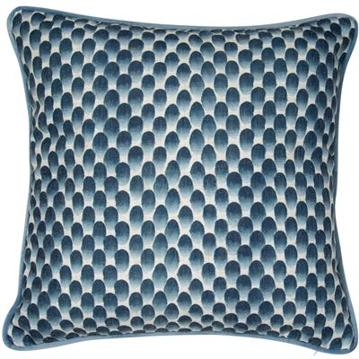 Blue Thumbprints Cushion