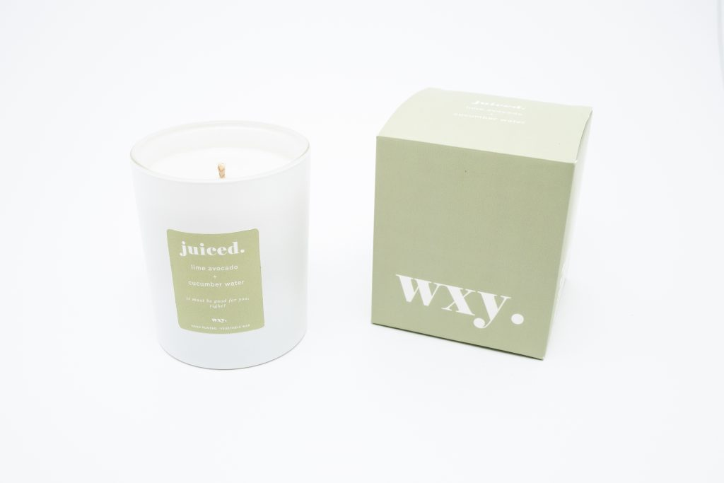 WXY. Juiced Candle 7oz Lime, Avocado and Cucumber Water