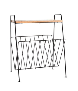 Madame Stoltz  Side Table With Magazine Rack