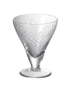 Vintage Style Cut Glass Saucer