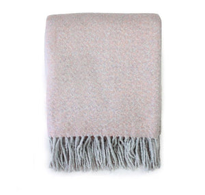 Soft Tasselled Blush Throw