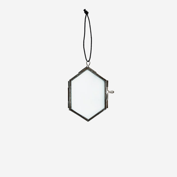 Trio of 3 Hexagonal Hanging Glass Frames