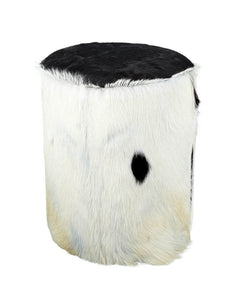 Parlane Black and White Goathide Stool