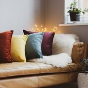 Velvet Cushion - Heather