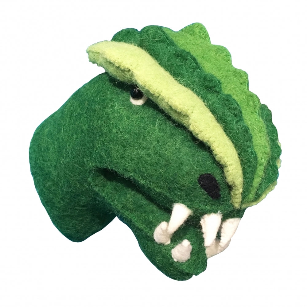 Decorative Felt Mini Animal Head - T-Rex Dinosaur