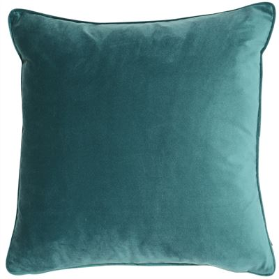 Velvet Cushion - Jade Green