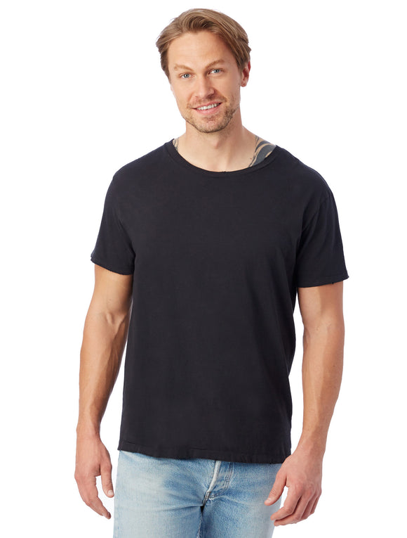 HERITAGE GARMENT DYED DISTRESSED T-SHIRT