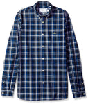 Long Sleeve Poplin Med Checkerd