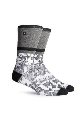 Long Socks Black Floral
