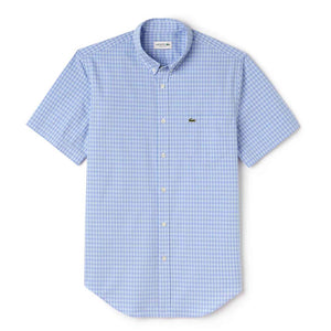 Short Sleeve Gingham Poplin Regular Shirt
