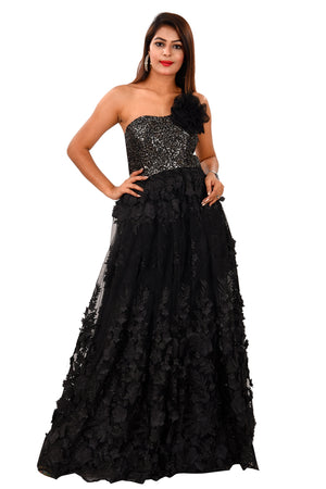 Black Evening Style Gown