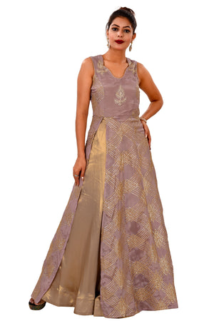 Light purple and Gold Designer Salwar Kameez