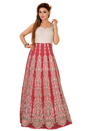 Off White and Pink Salwar Kameez Featured in Georgette