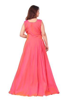 Reddish Pink Evening Gown featured in Tafta and Net