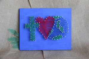 String Art - God Loves the World