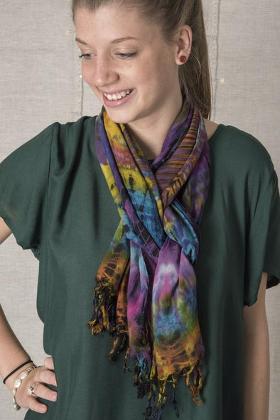 "Scarf Tying Tutorial–How to Tie a Scarf–Lesson 8: ""Rambling Rose"" Neck Scarf & Headband"