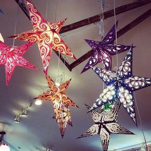 Star Lamps in the Bohemian Home: How to Assemble a Paper Star Lantern