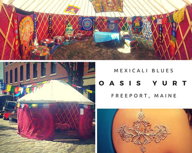 You'll Find the Mexicali Blues Yurt at Our Freeport Store this Saturday!