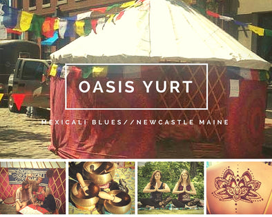 Your Oasis on Route One: The Mexicali Blues Yurt Sets Up at the Newcastle Store this Saturday!