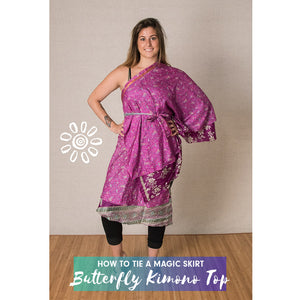 MAGIC WRAP SKIRT STYLING TUTORIAL: BUTTERFLY KIMONO TOP