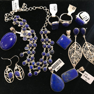 Lapis Lazuli jewelry at Mexicali Blues