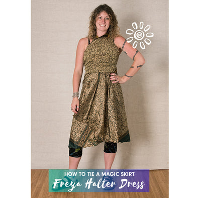 MAGIC WRAP SKIRT STYLING TUTORIAL: FREYA HALTER DRESS