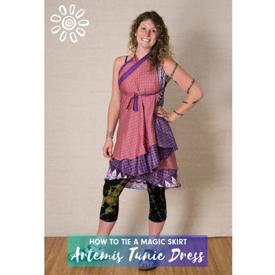 MAGIC WRAP SKIRT STYLE TUTORIAL: ARTEMIS TUNIC DRESS
