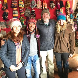 Mexicali Blues and Rabi's company are both family businesses! (In pic: Rabi, Pete, and their daughters.)
