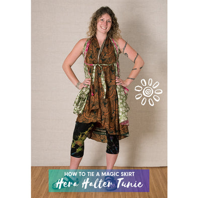 MAGIC WRAP SKIRT STYLING TUTORIAL: HERA HALTER TUNIC