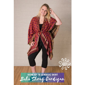 MAGIC WRAP SKIRT STYLE TUTORIAL: BOHO SHRUG CARDIGAN