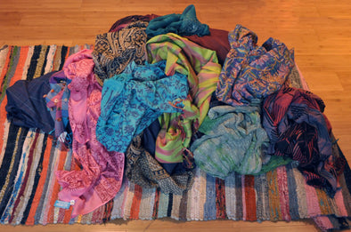 DIY: Easy Scarf Storage Solutions