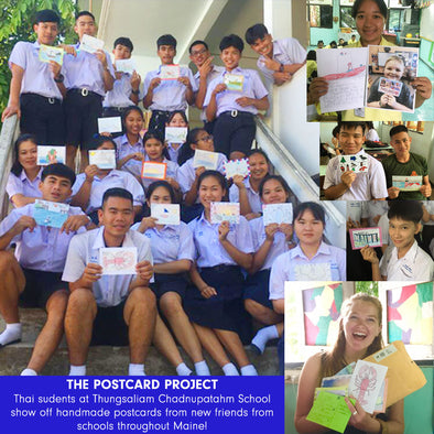 THE POSTCARD PROJECT: CONNECTING STUDENTS FROM THAILAND AND MAINE
