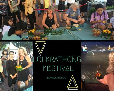 POSTCARDS FROM PETE & KIM: LOI KRATHONG FESTIVAL IN BANGKOK, THAILAND