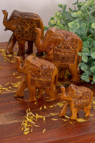 Wooden elephant animal totems