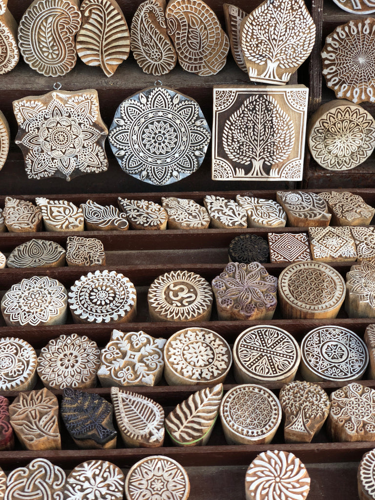 Indian carvings for block printing