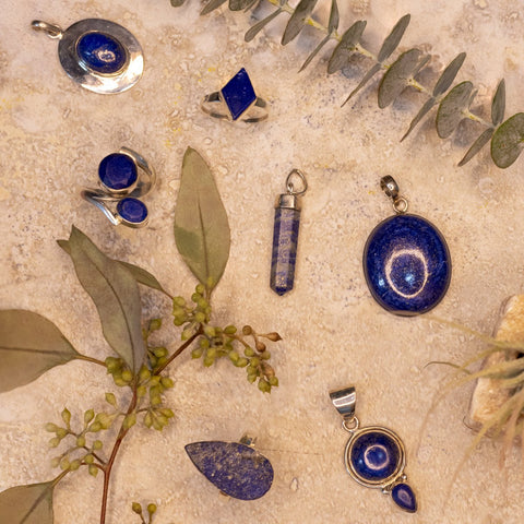 Lapis pendants and rings