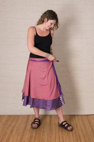 Step 2: Wrap the skirt around and tie at your waist, on the side.