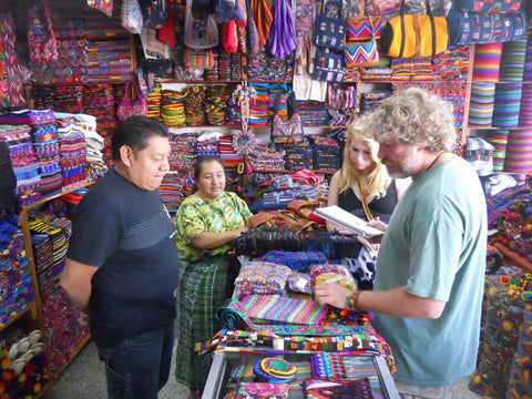 Carly & Pete shop in Guatemala