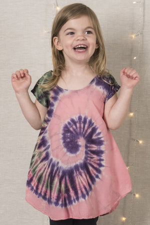 Tie Dye Baby Dress - Mexicali Blues