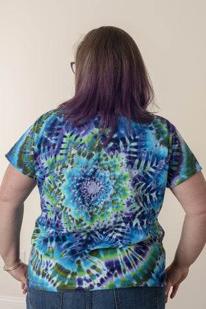 12 Point Star Killer V-Neck Tie Dye - Mexicali Blues