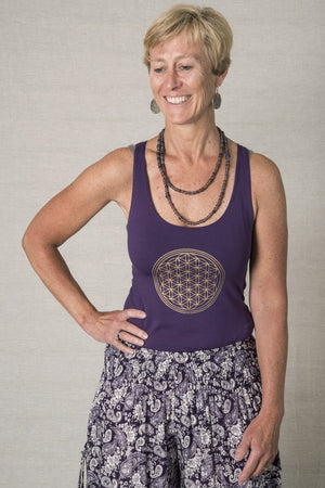 Yantra Racerback Yoga Tank - Mexicali Blues
