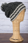Striped Pom Pom Hat - Mexicali Blues